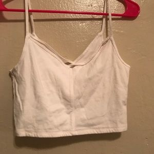 hollister strappy crop top .